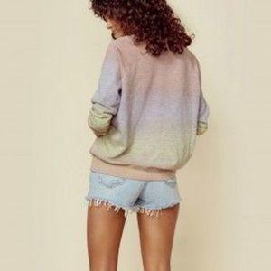 Sundry XS sherbet dip tie dye raglan sweatshirt